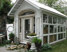 Glass House - pool house, office, garden room - whatever!  Sisters' Garden and Bloom, Iowa