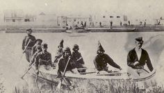 T R A D E // . 1860  Nine men arrive at Fort William by canoe. Fort William also called Kaministiguia was the Hudson's Bay fur trading post. Photographer: Unknown #canoeisttrade . . . #canoeist #hudsonbay #hudsonbaycompany #canoe #canoeing #fortwilliam #kaministiquiariver #wilderness #expedition #exploremore #explorenorth #travelnorth #outdoorculture #scoutforth #forgeyourownpath #filsonlife #getoutside #history #heritage #journeywild #keepitwild #livefolk #liveauthentic by canoeist_trade