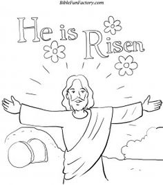 Image Result For Preeaster Coloring Pages Jesus Dies And Comes Back