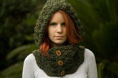 Cuello con capucha | CROCHET-GANCHILLO | Pinterest