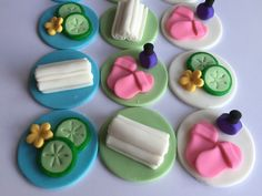 Fondant Spa Cupcake Toppers by LuluBellCakes on Etsy