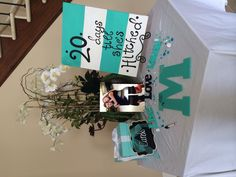 Tiffany blue bridal shower--would be cool to have a blue Z to hang in the house among photos