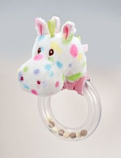 Pastel Dot Horse Ring Rattle by Douglas Toys. $12.25. 3'x5'(8,12cm)soft and cushy pastel dot horse adorns this functional and fun horse rattle. Embroidered face and safety tested makes this infant toy a must have.