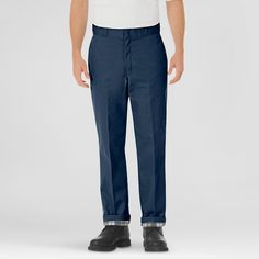 Dickies Men's Relaxed Straight Fit Flannel-Lined Twill Work Pant-