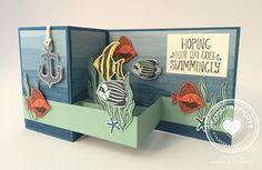 Stamp · Pray · Love: 3D Thursday - Seaside Shore Double Z Fold Card