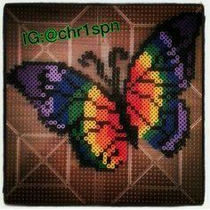 Rainbow Butterfly perler
