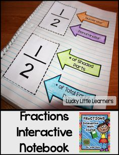 This 28-page product is jam-packed with quality goodies that will provide you with great resources to use for your fraction unit! What's Included: *Explanation of Interactive Math Notebooks *Fraction Vocabulary Words *Numerator vs. Denominator Mini Anchor Chart *Equivalent Fractions *Estimating Fractions *Color & Label the Fraction *Fractions of a Set *Fraction Story Problems *Photos of these interactive math notebook pages