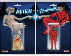 """""""Whoever wins. . .Your childhood loses."""" The 80s are back in the most terrible of ways  Clear some shelf space and come on down to the DKE Toys booth #812 at @designercon this Saturday and Sunday to pick up your very own exclusive """"Alien vs Predator"""" set for only $100 (tax included)  Each piece will be ruined with my signature and hand numbered out of 30! Fun! They also come loaded with fun activities and questionable send aways on the back! Yay!And as always """"Quality sold separately!""""…"""