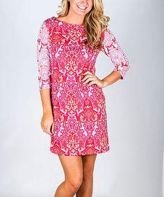 Loving this Pink Swirl Ornament Ruth Dress on #zulily! #zulilyfinds