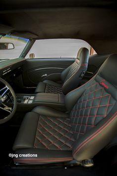 1969 Camaro SS .. Do my interior this way but black and white