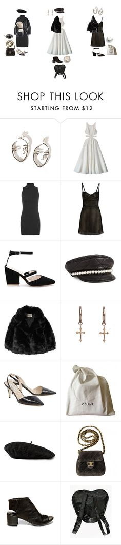 """""""happy valentines day <3"""" by jayda-xx ❤ liked on Polyvore featuring Mara Hoffman, WearAll, Just Cavalli, VFiles, Moschino, The Row, Rachel Entwistle, STELLA McCARTNEY, CÉLINE and Gucci"""