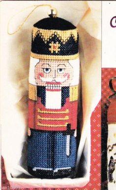 vintage Cross Stitch Pattern magazine Christmas Ornament Nutcracker  Visit TheOldOwl on Etsy  https://www.etsy.com/listing/241022842/1987-cross-stitch-patterns-christmas?ref=listing-shop-header-0…