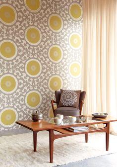 Kenneth James' Suzani by Eijffinger® #wallpaper #homedecor #suzani