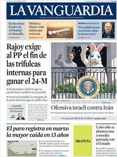 Diario LA VANGUARDIA del 7 de Abril 2015 Recordamos que pueden visualizar cada día las principales portadas titulares ocurridos en España - Catalunya - Barcelona en http://www.youtube.com/vendopor