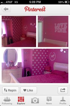 Victoria Secret PINK room I would love this!!
