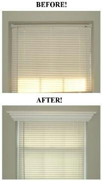 molding over wood blinds