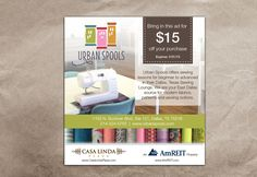 Create an ad for Urban Spools by _Blue_