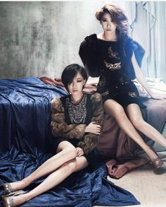 Kpop Fashion | Brown Eyed Girls in Marie Claire Korea - Jea & Ga-in