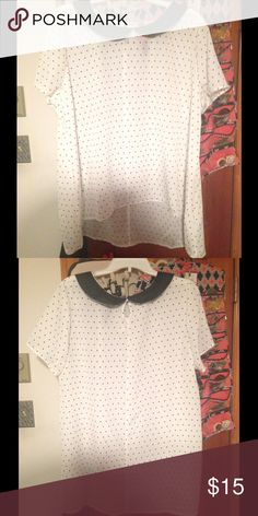 2x Target black and white Bib blouse Black and white bibbed blouse. Fits true to size. Target  Tops Blouses