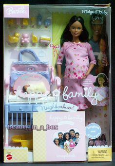 Midge & Baby Pink Outfit Happy Family Barbie Doll African American AA Pregnant  #Mattel #BarbieDoll