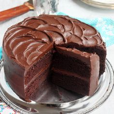 Only Chocolate Cake Recipe, Best Moist Chocolate Cake, Chocolate On Chocolate Cake, Chocolate Cake With Ganache, Chocolate Recipes, Baking Recipes, Cake Recipes, Dessert Recipes, Food Cakes
