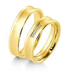 Breuning Trouwringen   Inspiration collectie gouden ringen   5mm briljant 0.05ct verkrijgbaar in 8,14 en 18 karaat   48041110 / 48041120