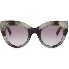 2a6478d31796 Max Mara Reddish cat-eye sunglasses ($285) ❤ liked on Polyvore featuring  accessories, eyewear, sunglasses, floral sunglasses, cat eye glasses, retro  cat ...