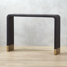 Shop Tyler Leather Console Table With Stitch Detail. Console takes a u-turn as a chic staple for the entry. Marble Console Table, Modern Console Tables, Modern Table, Living Room Furniture, Home Furniture, Entryway Furniture, Media Furniture, Street Furniture, Furniture Ideas