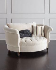 haute house harlow ivory cuddle chair settee sofa chair ottoman sofa bedroom chair