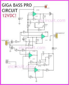 new filter subwoofer circuit audio schematic pinterest circuit rh pinterest com