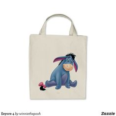 Shop Eeyore 4 tote bag created by winniethepooh. Personalize it with photos & text or purchase as is!