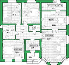 Architect Design House, Bungalow House Design, Small House Design, 40x60 House Plans, Dream House Plans, Model House Plan, Small Modern House Plans, Beautiful House Plans, Modern Bungalow House