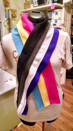 Split LGBTQIA+ Pride Scarves - 12 Flags Available