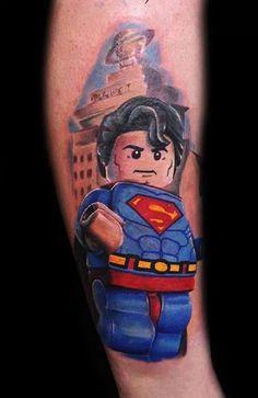 Lego Superman tattoo  lol this is cute