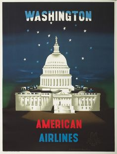 American Airlines poster by Edward McKnight Kauffer