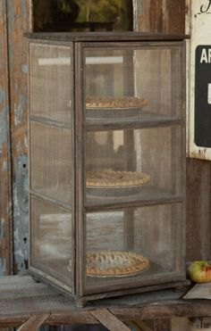 Grandma's Window Screen Pie Safe... Very interesting Website for Old Type Farm - Survival homestead