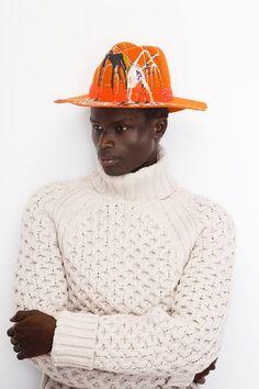 #neonkids #fashion #millinery #paint #blackmodel #ivaksenevich