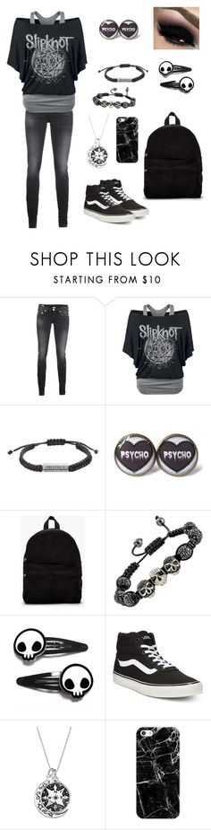 """""""Untitled #413"""" by dark-emo-kitty ❤ liked on Polyvore featuring True Religion, SILENT by Damir Doma, Vans and Casetify"""