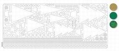 Stickervel Christmasboom holo d.green 20380/043503 - Sticker sheets