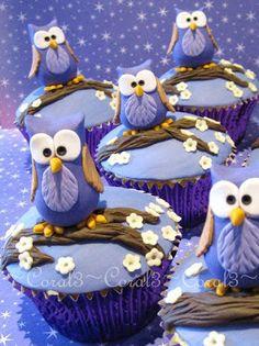 cupcakes owls