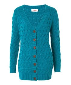 Take a look at this Green Knit Boyfriend Cardigan on zulily today!