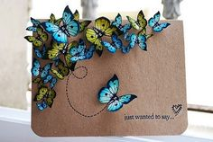 Butterflies - Click image to find more DIY & Crafts Pinterest pins
