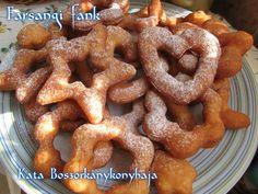 Farsangi fánk (Gluténmentesen is) Onion Rings, Sausage, Meat, Ethnic Recipes, Food, Sausages, Essen, Meals, Yemek