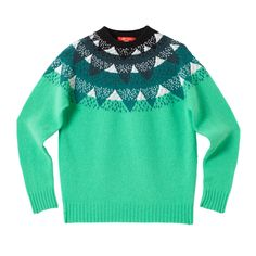 Mountain Peak Sweater - Jade - Donna Wilson