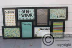 Collage Frame Dry Erase Board Organizer by rachaelwindemuller, $35.00