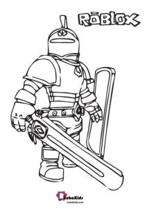 Warrior Roblox Free Coloring Page Coloring Pages Free Coloring Pages Cartoon Coloring Pages