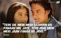 50 Bollywood Romantic Dialogues That Will Make You Fall In Love All Over Again Romantic Dialogues, Love Dialogues, Famous Dialogues, Shyari Quotes, Song Lyric Quotes, Movie Quotes, Hindi Quotes, Bollywood Movie Songs, Bollywood Quotes