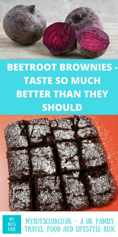Beetroot Brownies: Chocolate cake that tastes so much better than it should - a dairy free recipe that includes one of your five a day. Baked Beetroot, Beetroot Recipes, Beetroot Ideas, Pudding Recipes, Brownie Recipes, Cupcake Recipes, Dessert Recipes, Chocolate Beetroot Brownies, Best Chocolate Cake