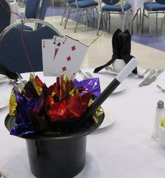 Magic Hat Centerpieces | Party People Celebration Company - Special Event Decor Custom Balloon ...
