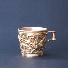 Ancient Greek Gold Cup Mycenaean Artifact, Museum Replica from Vafeio Laconia